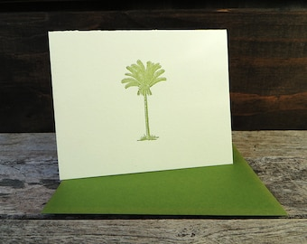 Date Palm Tree Letterpress Card