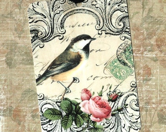 Gift Tags, Bird Tags, Bird Lover, Bird & Rose, Party Favors, Bird Gift Tags