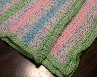 Intriguing Striped Afghan