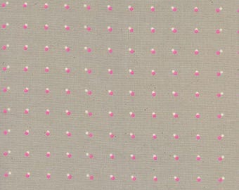 Cotton + Steel - Black & White 2017 - Double Dots Neon Pink