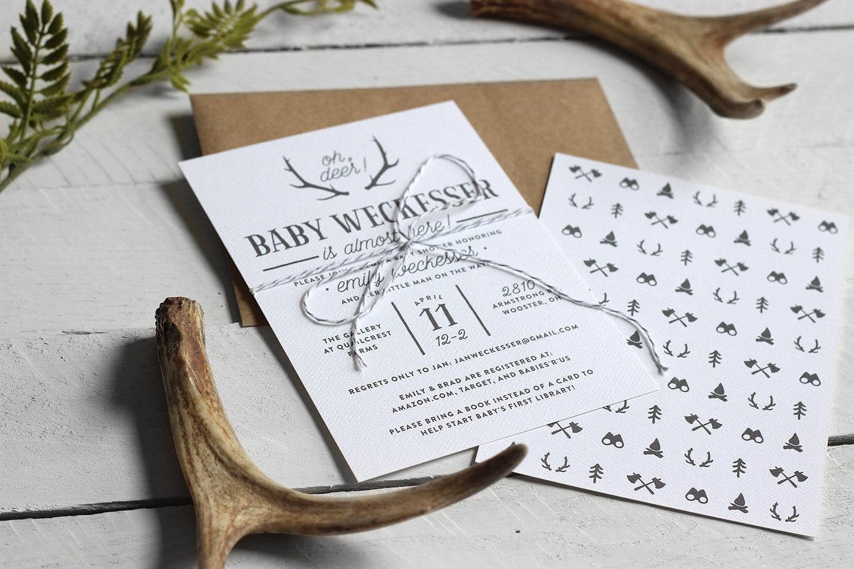 Printable Rustic Baby Boy Shower Invitation Custom Baby