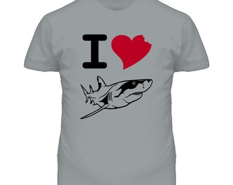 I Love Sharks Awesome Shark Week T Shirt