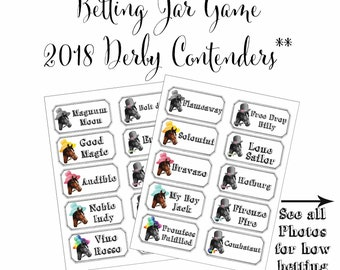 Kentucky Derby Party Printables Preakness Party Belmont Stakes Party Horse Racing Printable Betting Sheets 2 Digital Files Instant Download