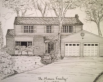 Custom Ink House Drawing