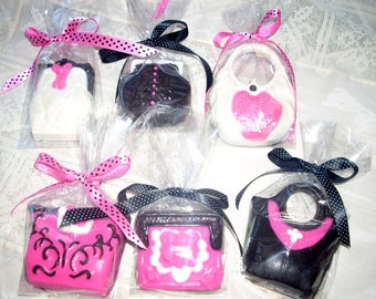 Ladies Chocolate Purse Favors 2 bridal shower birthday tea party