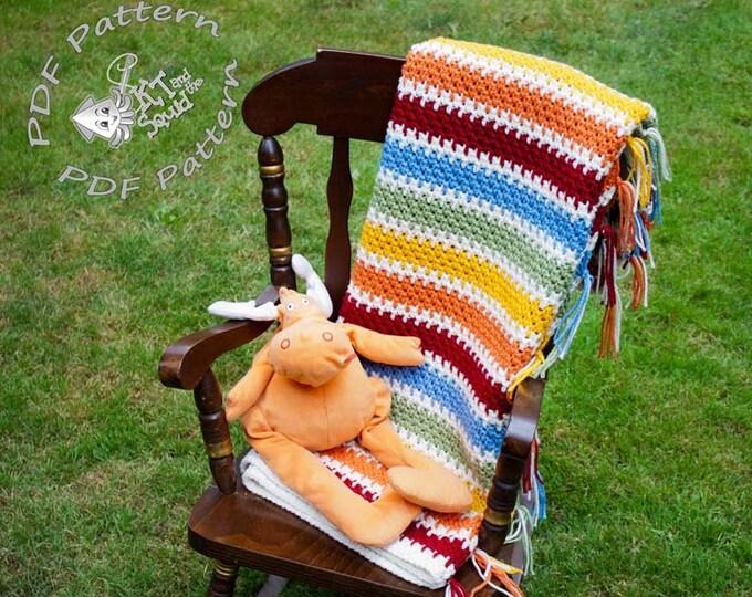 Crochet afghan pattern, crochet blanket pattern, crochet blanket pattern, baby blanket pattern, crochet stripe pattern permission to sell