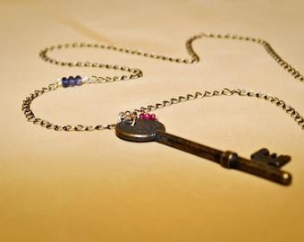 Antique skeleton key necklace