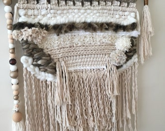 wall hanging weaving and macrame