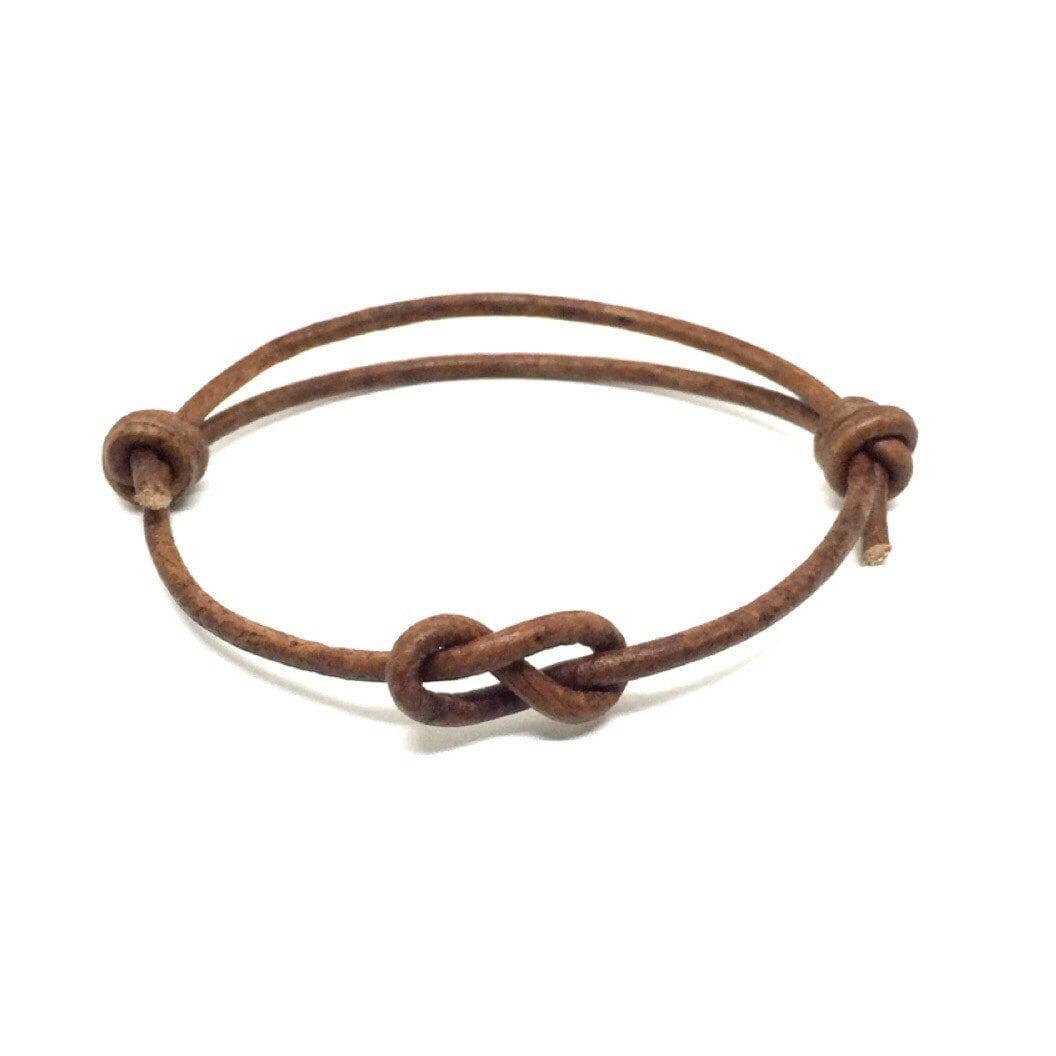 Simple Bracelet Leather Bracelet Infinity Knot Matching