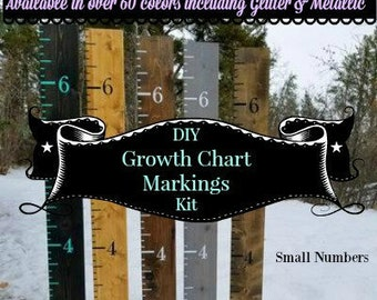 DIY Growth Chart Markings Kit- SMALL - Make Your Own Growth Chart - Nursery Decor - Height Markers - Vinyl Growth chart Canada
