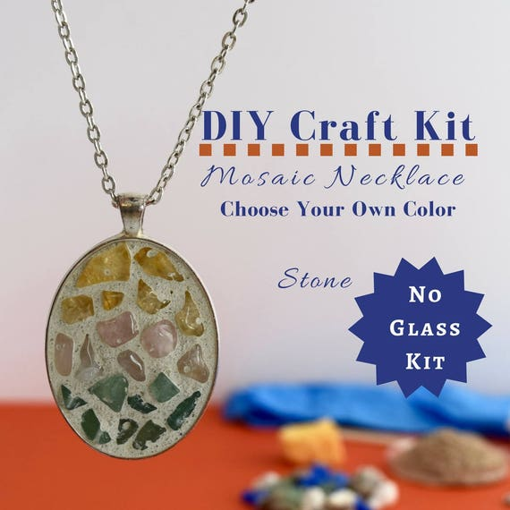 Do it yourself necklace making kit mosaic necklace diy kit solutioingenieria Image collections