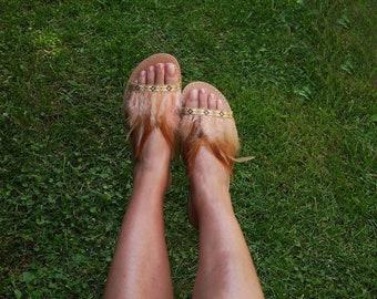 """Slides Leather Sandals, Handmade Sandals, Greek Leather Sandals, Genuine leather sandals,""""Chloe"""" Sanadals"""
