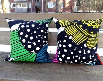 Modern pillow cover made from Marimekko fabric, pillow case or sham, throw pillow or cushion cover, Scandinavian design, accent pillow
