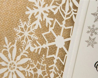 Laser Winter Wedding invitation suite