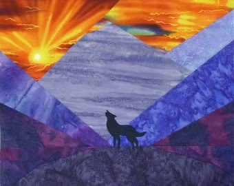 Mountain Sunset quilt pattern - ON SALE