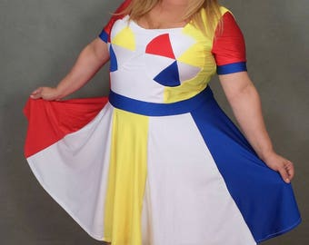 """MADE TO ORDER *Plus Size*  Katy Perry """"Beach Ball"""" Inspired Dress with Sleeves"""