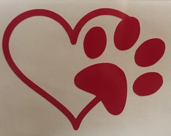 "Dog Lovers ""I Heart My Dog"" Decal"