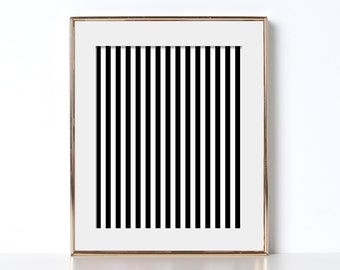 Stripes Poster Stripes Prints Digital Download Abstract Geometric Art Poster Scandinavian Print Modern Print Wall Decor Poster Black White