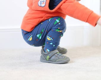 Baby Leggings, Boys Space Leggings, Baby Boy Leggings, Boy Leggings, Baby, Toddler, Space Ship, Baby Gift, Handmade, Millyo,