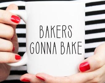 gift for baker, gift for chef, bakers gonna bake, mug for baker