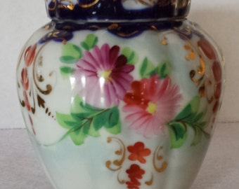 Antique Hand Painted Jar with Lid *Very Old Collector Piece* Antique Candy Jar