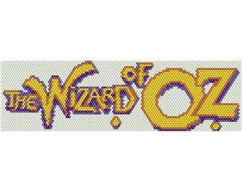 Wizard of Oz Peyote Bead Pattern, Bracelet Cuff Pattern, Bookmark, Seed Beading Pattern Miyuki Delica Size 11 Beads - PDF Instant Download