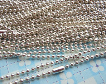 SALE--100 pcs - 27inch, 1.5 mm  Silver Ball Chain Necklaces