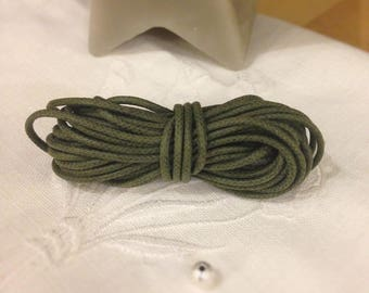 Olive Green waxed cotton cord