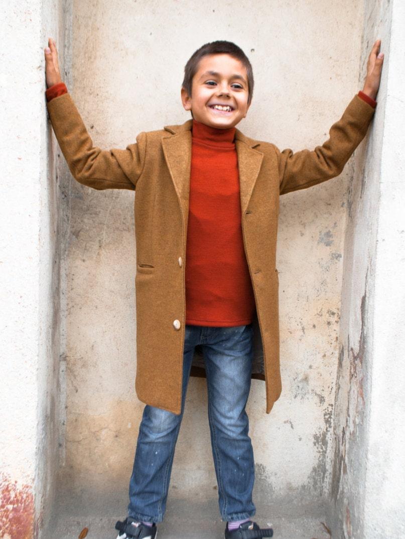 Beautiful Winter coat Boys wool coat Vintage coat Warm long coat XV81