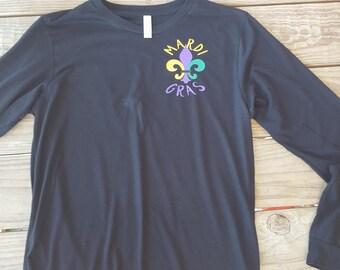 Mardi Gras Fleur de Lis Long Sleeve Shirt