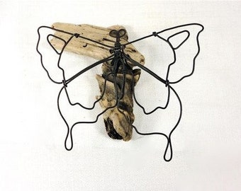 Butterfly Wire Sculpture, Minimal Wire Art, Wire Wall Piece, Wire Tabletop Sculpture, 468870379