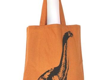 DINOSAUR- Eco-Friendly Market Tote Bag - Hand Screen printed (Ships FREE!)
