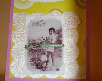 Easter card purple