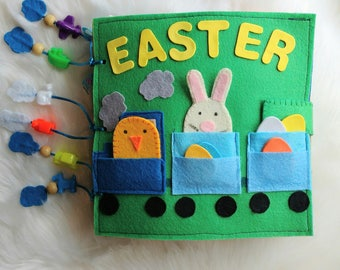 Easter Activity book Quiet book Busy book Easter gift Felt book Montessori Felt toys Educational toys Quiet book for toddlers