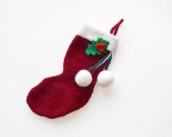 Christmas Stocking Crochet Pattern, Christmas Sock Crochet Pattern, Christmas Crochet Pattern, Winter Crochet Pattern, Seasonal Crochet