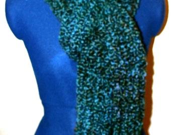 Soft teal-blue scarf