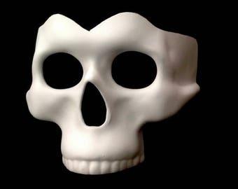 Half face DIY Skull Mask Base Paint your own Skeleton Halooween Mask