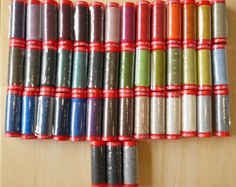 SALE - Genziana Wool Thread Sampler Pack of 45 Colors perfect for Wool Applique and Embroidery