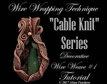 Wire Jewelry TUTORIAL Jewelry Making Tutorial Wire Wrapping Weave PDF Pattern Wire Wrap Cabochon Pendant Tutorial Wire Weaves Tutorial Amber