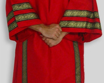 Ancient Roman Greek Dalmatica Costume with Trim