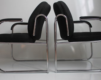 Pair OF Two  Mid Century Chrome  Chair