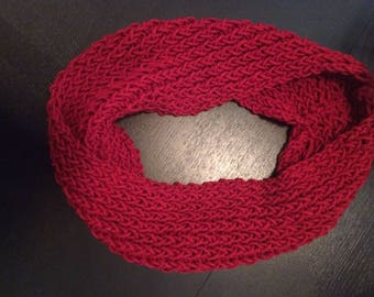 Women's Ruby Red Infinity Scarf