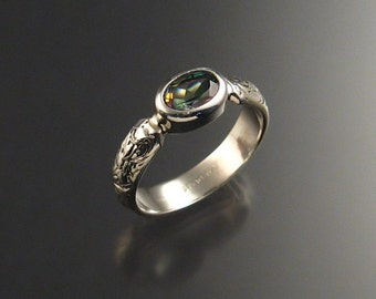 Mystic Topaz ring Sterling Silver made to order in your size
