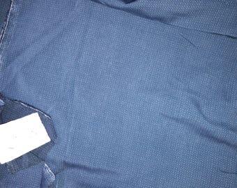 No. 613-fabric cotton ACETATE fluid NON FROISSABLE petrol blue