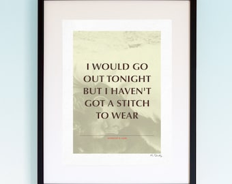 The Smiths - This Charming Man, Song Lyrics, Music Print, Music Lyric Gift, Music Typography, Printed Lyrics, Lyric Poster Design, A4, A3.