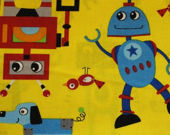 Robot Rock 100% cotton fabric