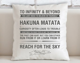 Disney Quotes Filled Cushion - High Quality - Gift - Home Decor