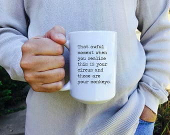 mug, coffee mug, funny mug, work humor, coworker gift, coffee cup, small gift, best friend gift, sarcastic gift, coffee gift, m103