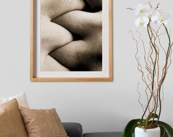 Dactilar Print .  Black and White Photography, print, sepia, decor, wall art, artwork, large format photo.