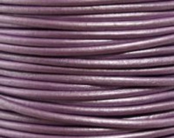 3 yards - 1.5 mm Leather Cord - #53, Metallic Chandi - 9 feet